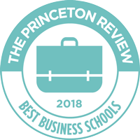 The Princeton Review Best Business Schools 2018 badge