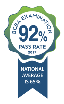 CSUN student pass rate for BCBA examination is 92%.