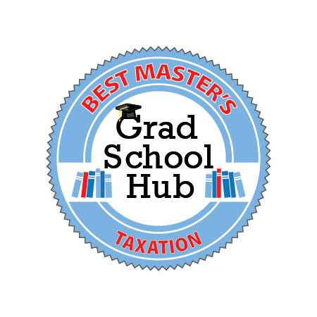 Best Master's in Taxation from Grad School Hub badge