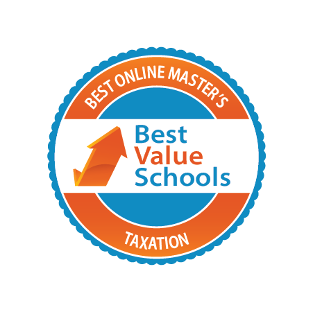 Best online Master's in Taxation badge by Best Value Schools