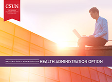 Master of Public Administration: Health Administration Option e-brochure cover