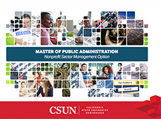 Master of Public Administration: Nonprofit Sector Management Option e-brochure cover