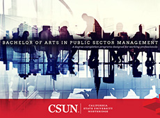 M. A. in Public Sector Management brochure cover