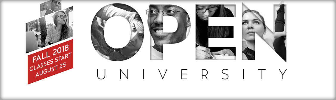 Open University Fall 2017. Classes Open to the Public.