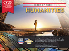 M.A. in Humanities brochure cover