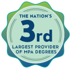 CSUN is the 3rd largest provider of MPA degrees.
