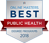 Number 10 of the Top 25 Online MPH Community Health Degree Programs badge.