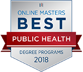 Number 2 of the Best Online Master's in Public Health (MPH) Programs badge.