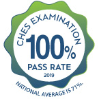 CHES examination pass rate was 100% in 2019 for MPH students. National average is 71%.