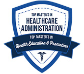 Number 11 Top 15 Master's in Health Education and Promotion 2020 badge. badge.