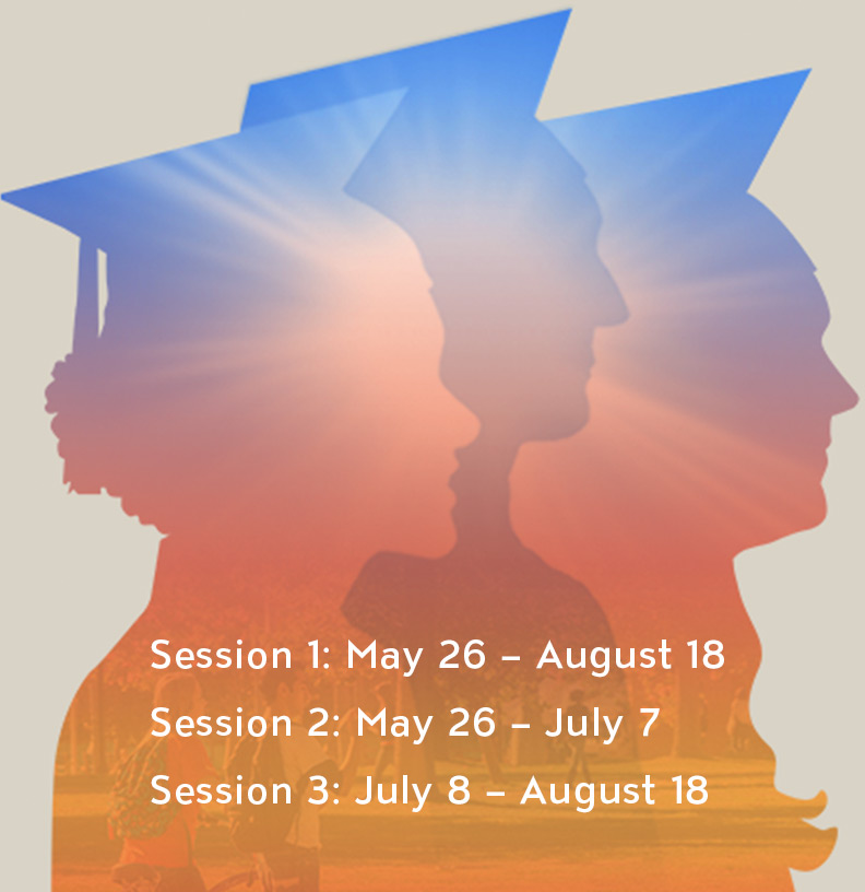 Session 1: May 26-August 18; Session 2: May 26-July 7; Session 3: July 8-August 18