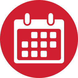 Calendar of dates, important dates