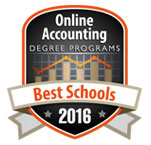 Online Accounting Degree Programs- Best Schools 2016 badge