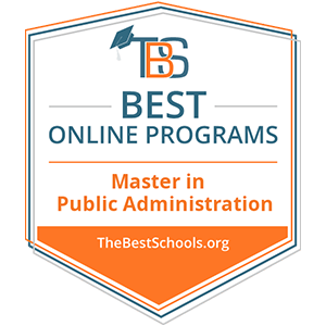 Number 23 of the Best Online MPA Programs badge.