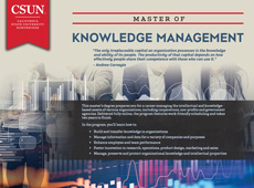 Knowledge Management brochure cover