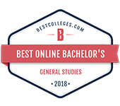 Number 7 in best online bachelor's in General Studies list according to Bestcolleges.com