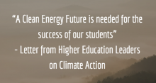 """Letter excerpt: """"A clean energy is needed for the success of our students"""""""