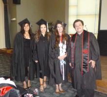 M.S. Applied Behavior Analysis students celebrate their graduation 1