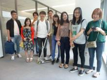 Intensive English Program Summer students gather for their L.A. tour