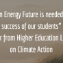 "Letter excerpt: ""A clean energy is needed for the success of our students"""