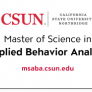 CSUN's Master of Science in Applied Behavior Analysis